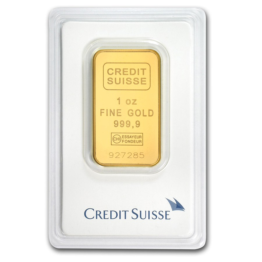 1oz Gold Credit Suisse Bar Bullion Advisors Group